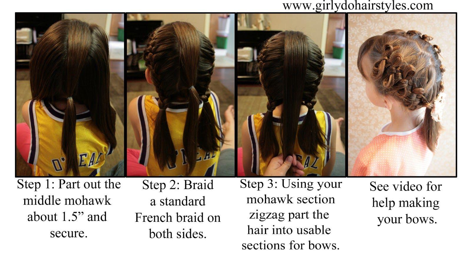 Girly dous by jenn bow braiding girly do hairstyles pinterest