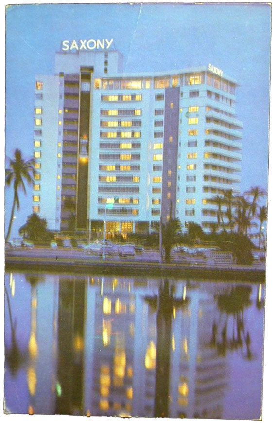 Vintage Scenic Miami Beach Florida Postcard Saxony Hotel 1964 4 00 Via Etsy