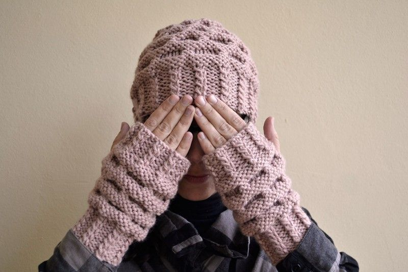 Cómo tejer Punto Colmena | KNITTING-GLOVES/MITTENS | Pinterest ...