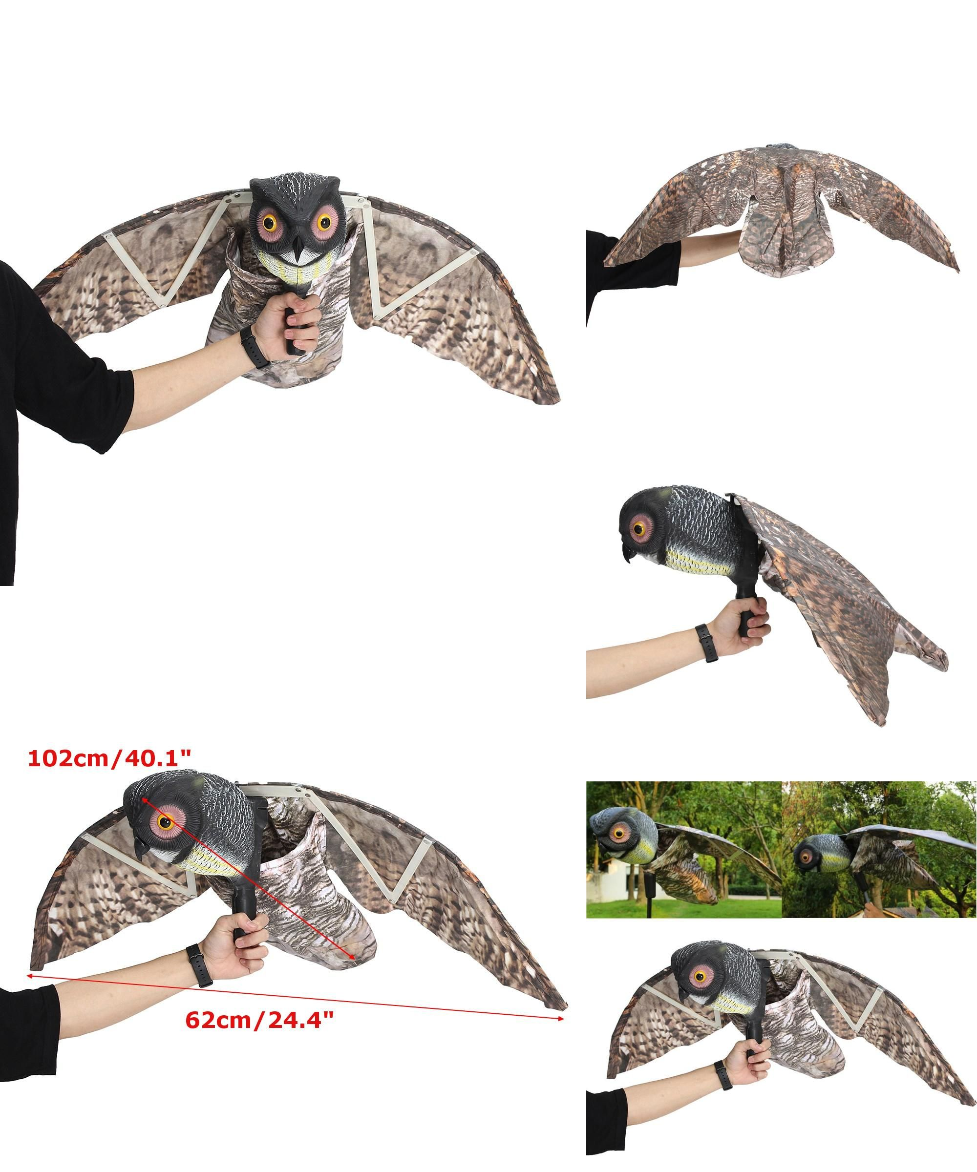 Visit to Buy] Flying Owl Decoy Pest Control Garden Mice