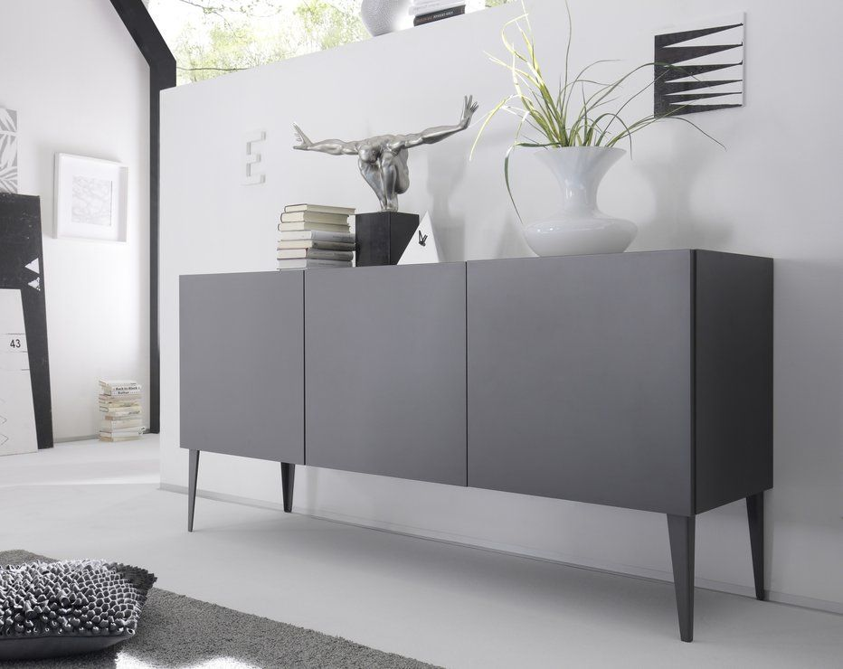 REX Three Door Sideboard Grey (Sideboards& display cabinet) livingroom37 Modern sideboard