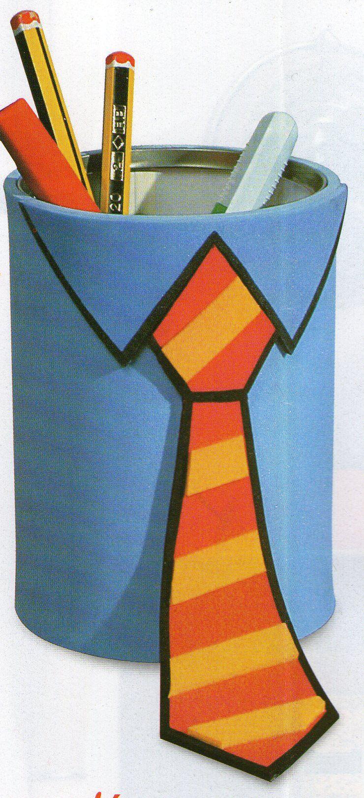 Célèbre Idées Fêtes des Pères : photobarquette, pot à crayons cravaté  AU96