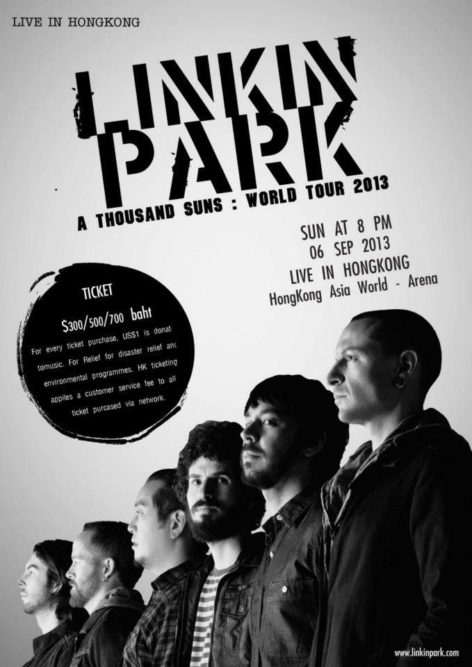 typography design poster concert linkin