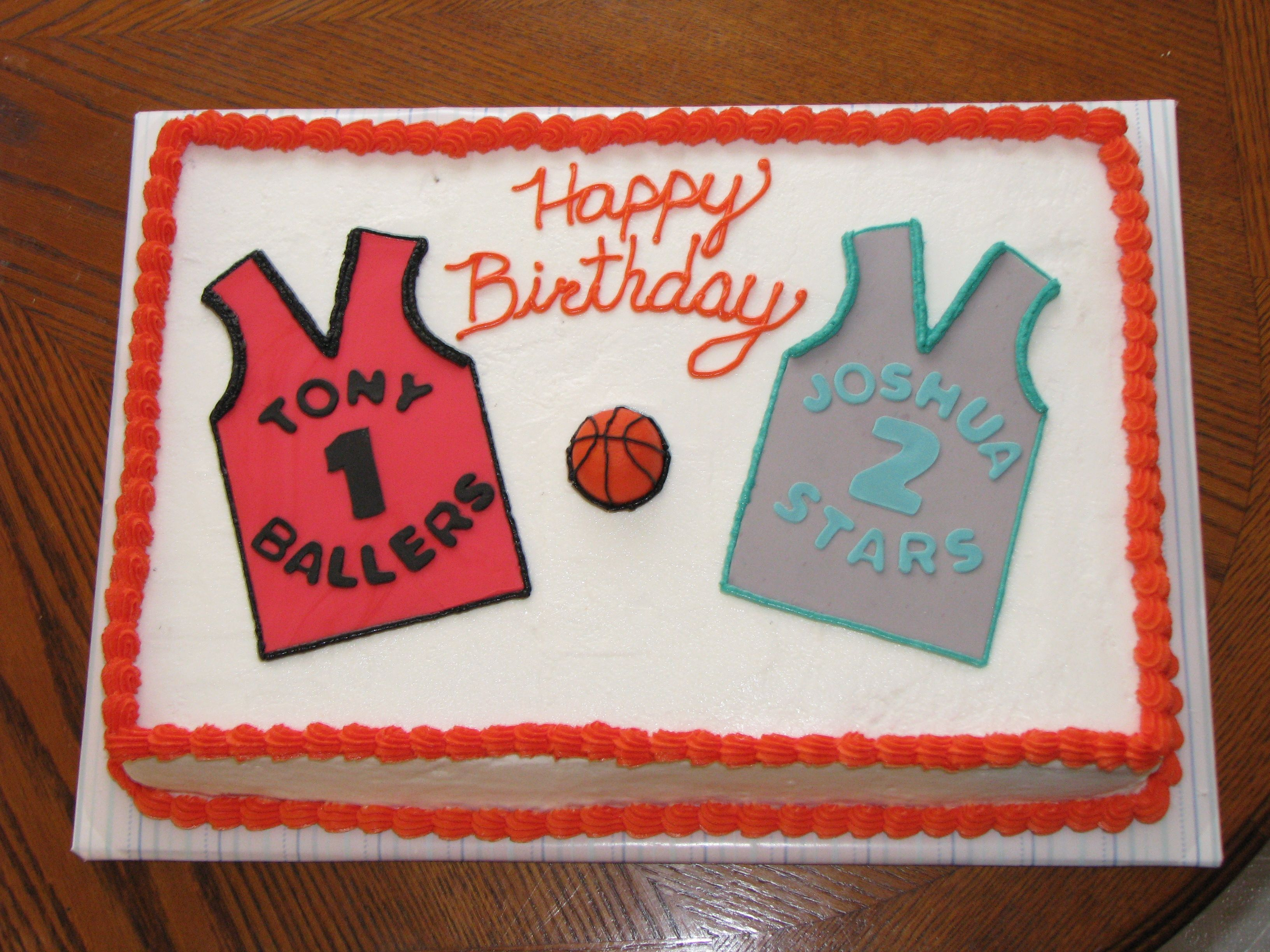 Basketball Delivery Cake and Birthday cakes