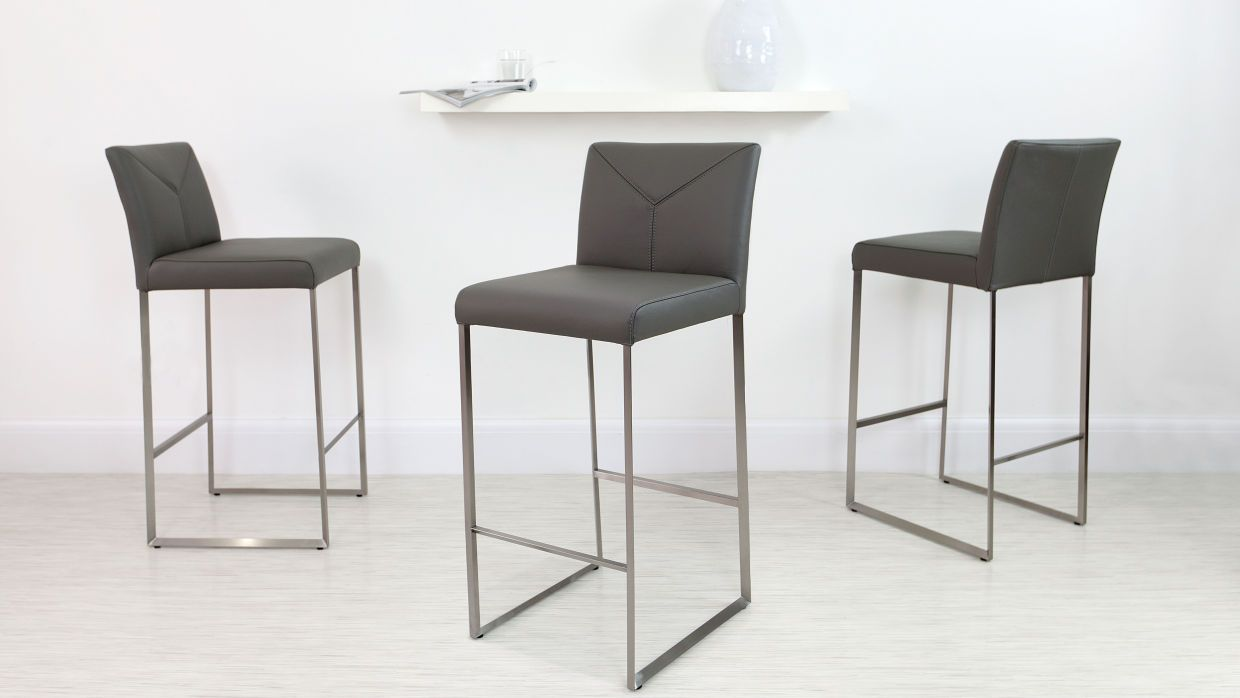 Monti Real Leather Bar Stool Leather Bar Stools Bar Stools With