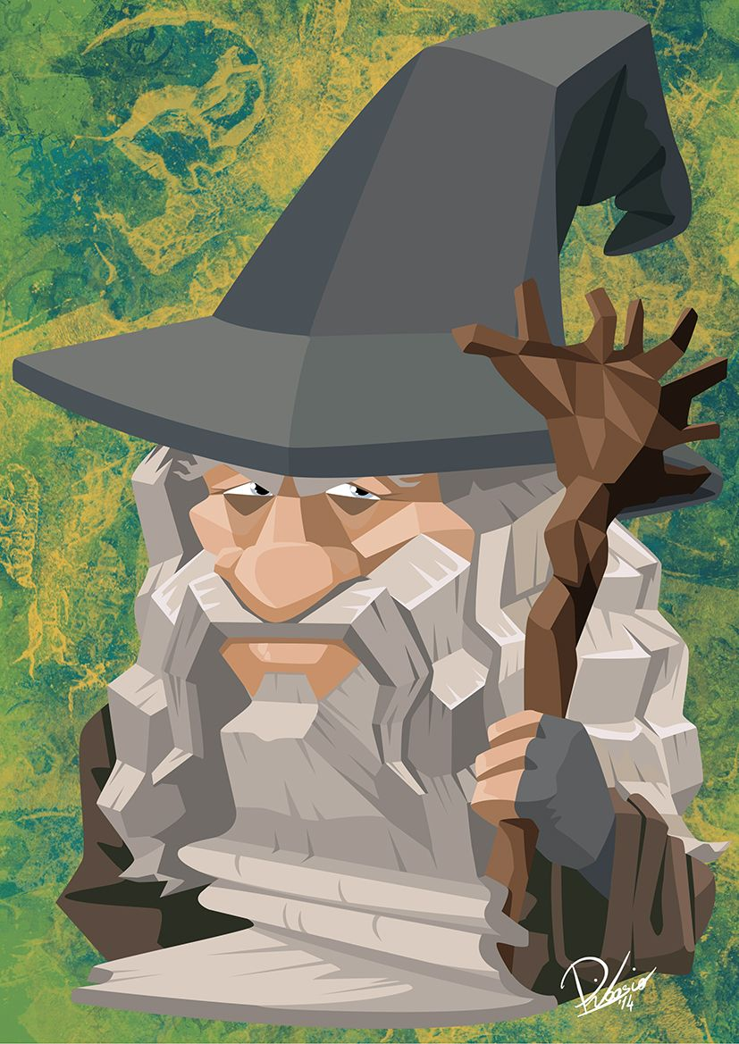 Ian McKellen in the role of Gandalf - caricature by Ribosio #thelordoftherings