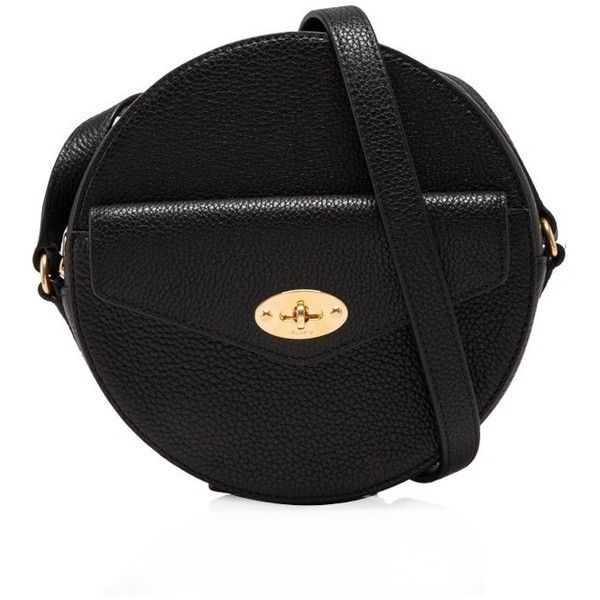 ce1b34ea499 Mulberry Darley Round Clutch ($650) ❤ liked on Polyvore featuring bags,  handbags, clutches, black, shoulder strap handbags, mulberry purse, round  handbags, ...