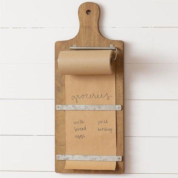 Cutting Board Note Paper Holder