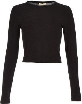 9f19821e09169 Alice + Olivia Alice   Olivia - Long Sleeve Jersey Crop Top A classic long  sleeve crop top from Alice   Olivia.