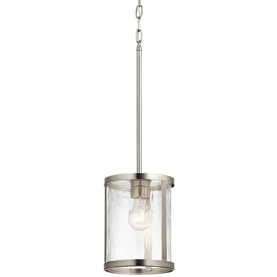 Rustikale esszimmerbeleuchtung ideen kichler marita brushed nickel industrial mini clear glass cylinder