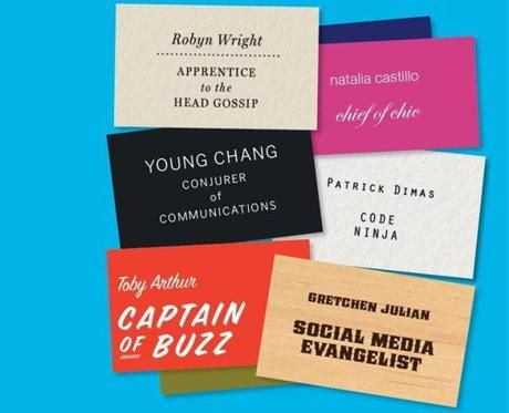 Creative job titles start to pop up in traditional companies not creative job titles are the new norm colourmoves