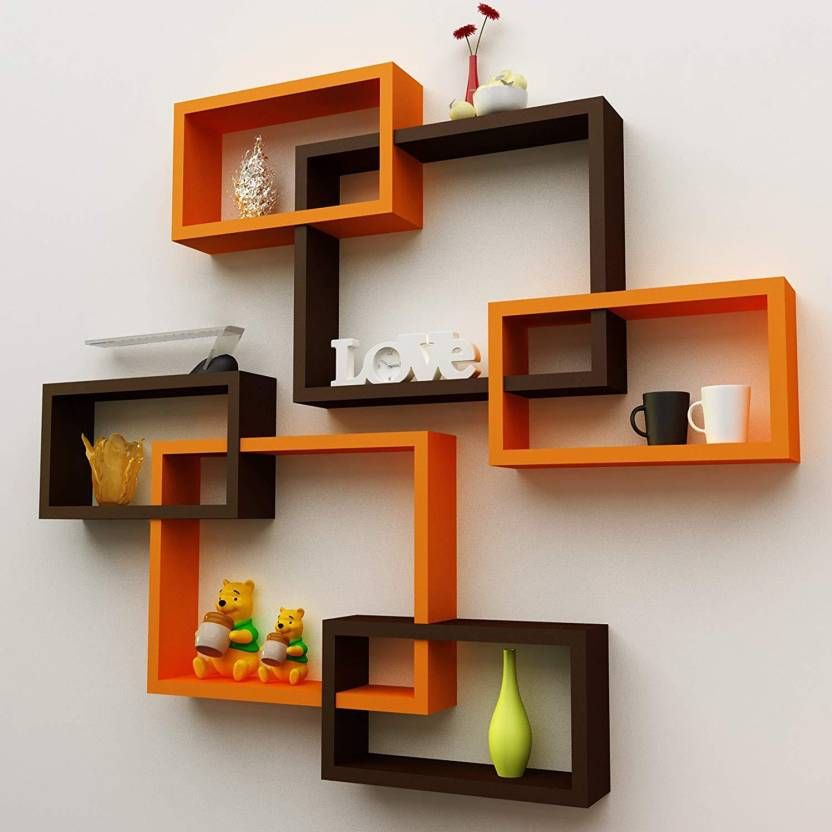 Decorative Shelves Home Decor Set Wooden Triangle Floating Wall Mount Shelf Se