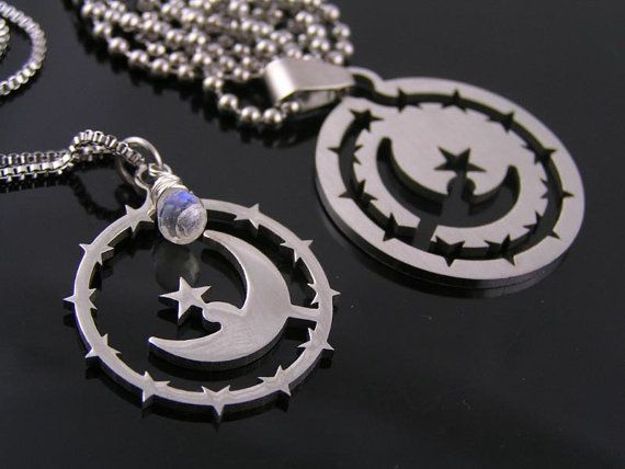 N2218 Matching Couple Necklaces Boyfriend Girlfriend Matching Necklace Set Mom and Daughter Jewelry Set Moon Necklaces