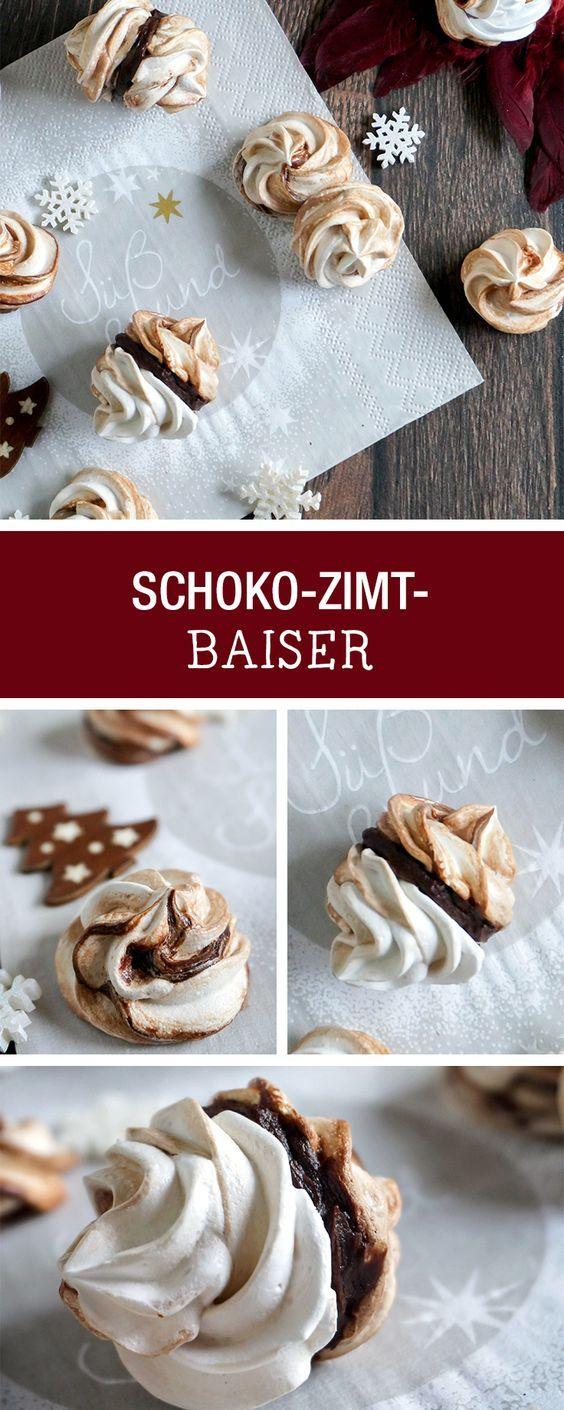 weihnachtsb ckerei rezept f r schoko zimt baiser christmas recipes chocolate baiser with. Black Bedroom Furniture Sets. Home Design Ideas