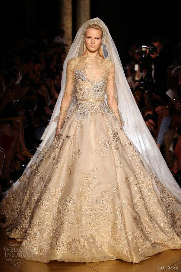 Wedding dresses cakes bridal accessories hair makeup for Elie saab blush wedding dress