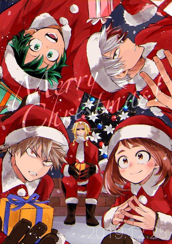 Pin By Otaku Girl Otome On Anime 1 Anime Christmas My Hero Academia Episodes New Year Anime