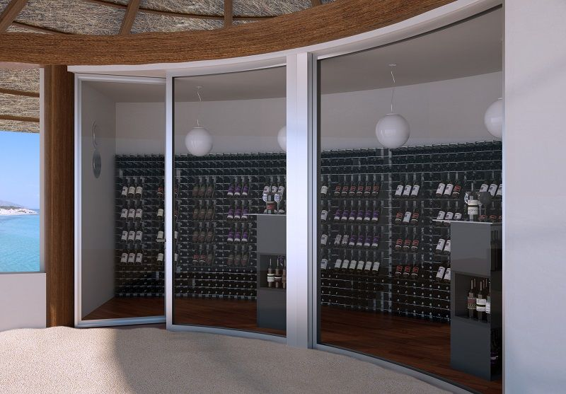 #Arredamento #portabottiglie #vino Esigo #resort #Maldive ...