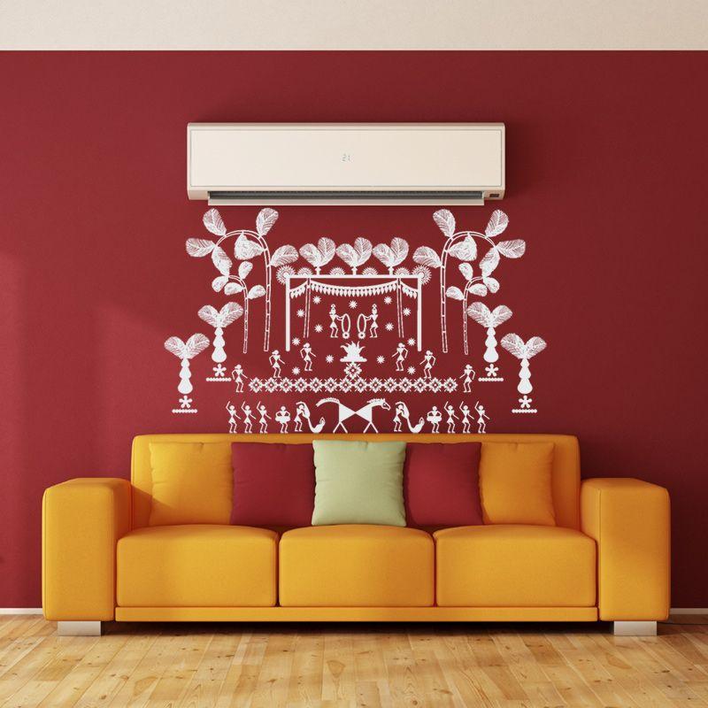 Warli Wedding Wall Decal Kids Room Paint Colors Kids Room Paint