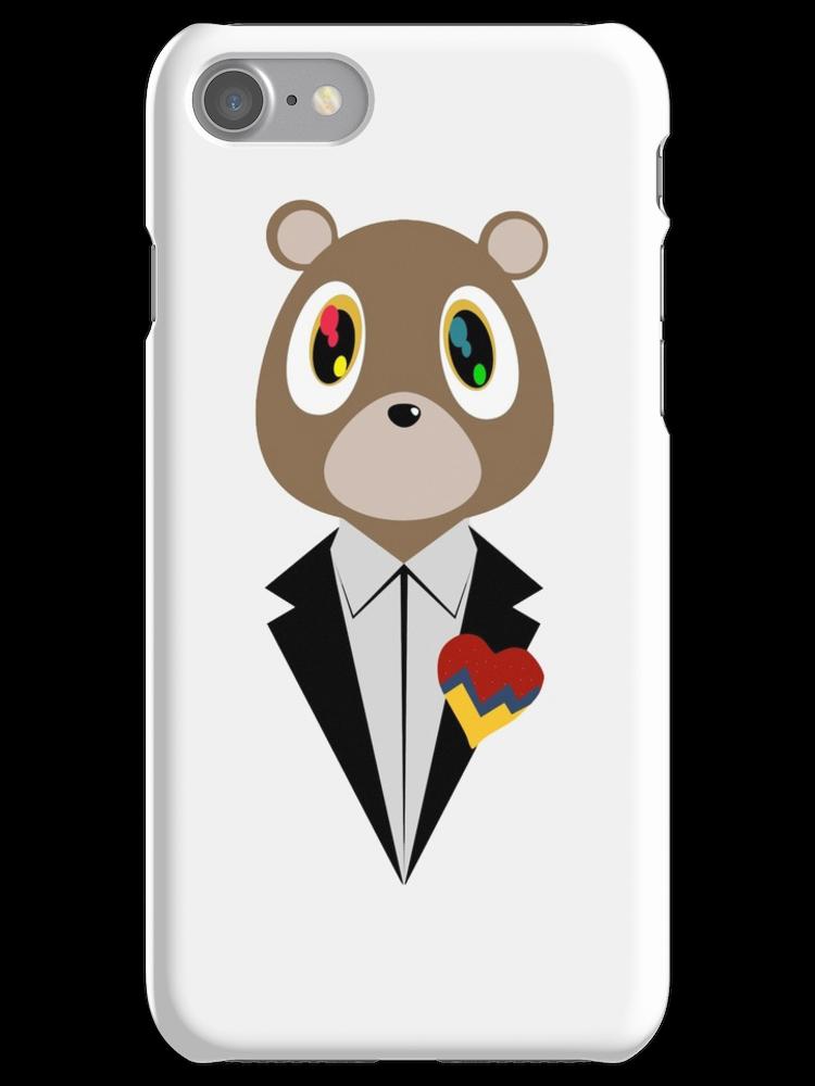 Kanye West Dropout Bear Iphone 7 Snap Case Kanye West Kanye Unique Sticker