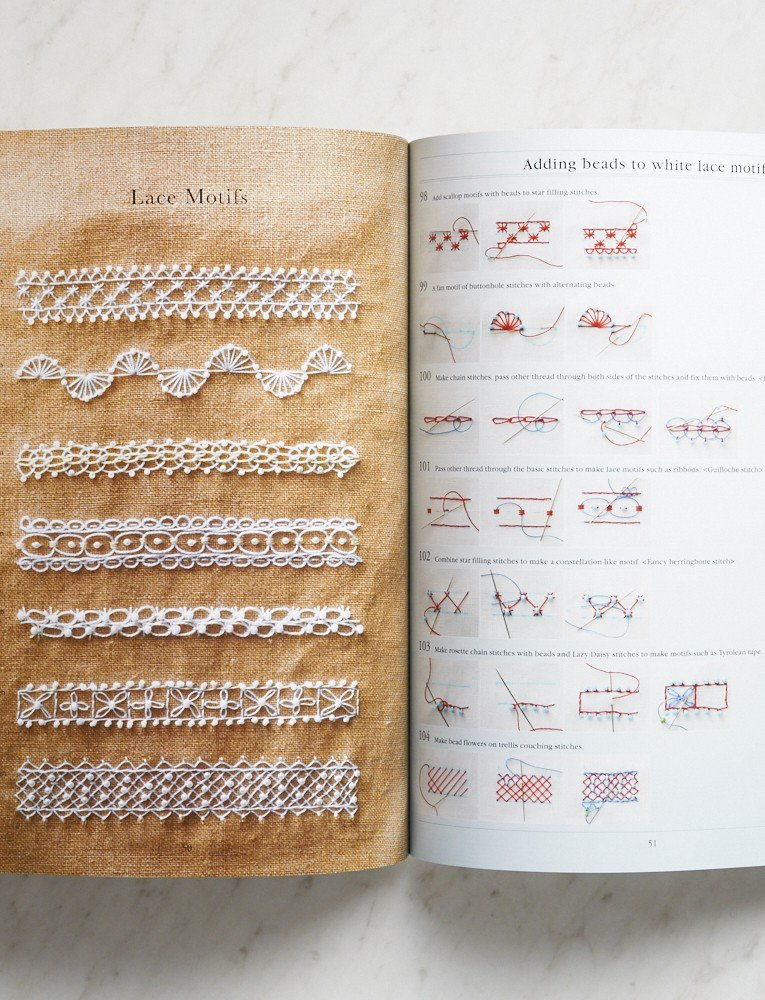 Bead Embroidery Stitch Samples, Yasuko Endo