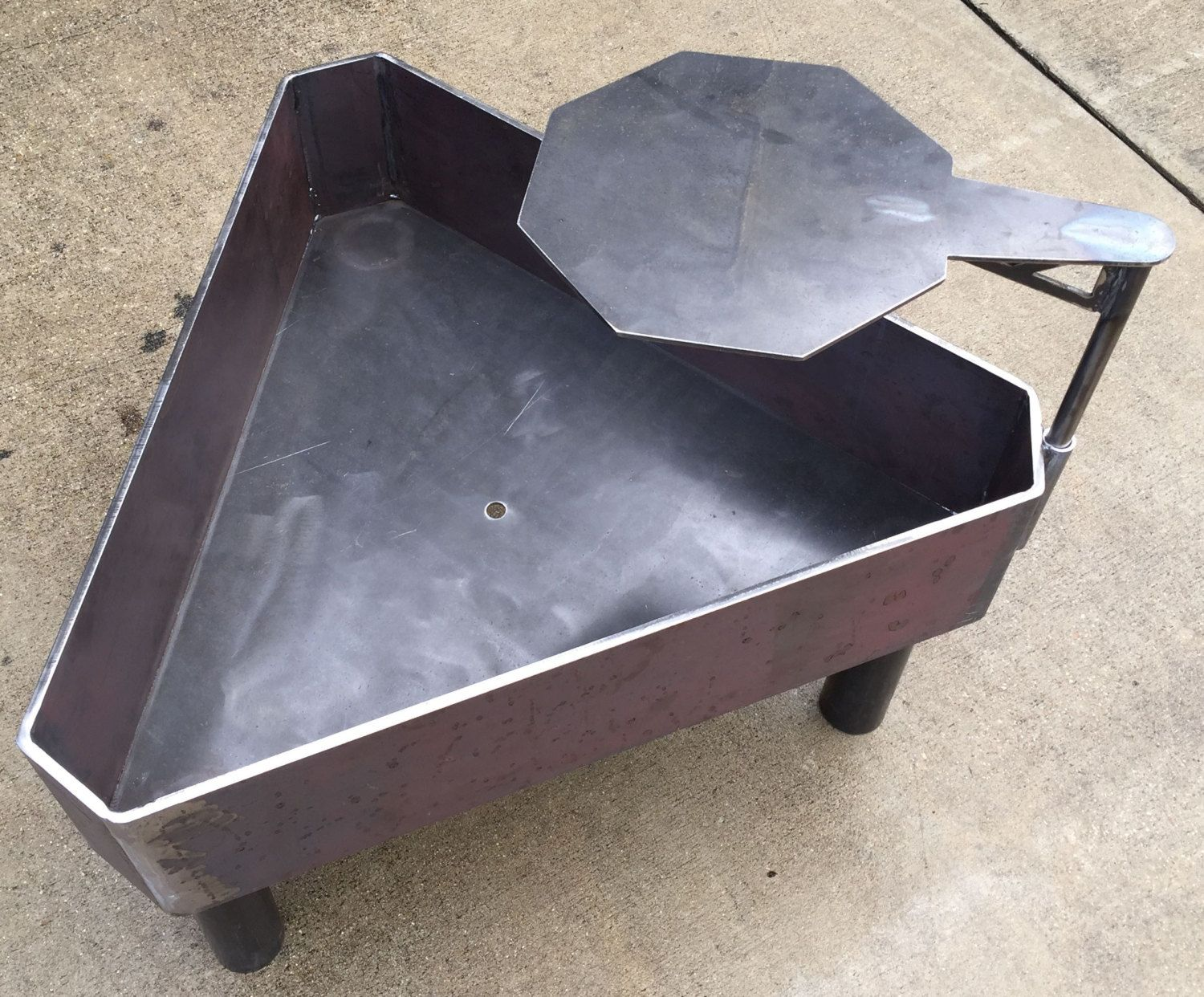 New 35 Triangle Fire Pit Solid Steel Wood Stove от