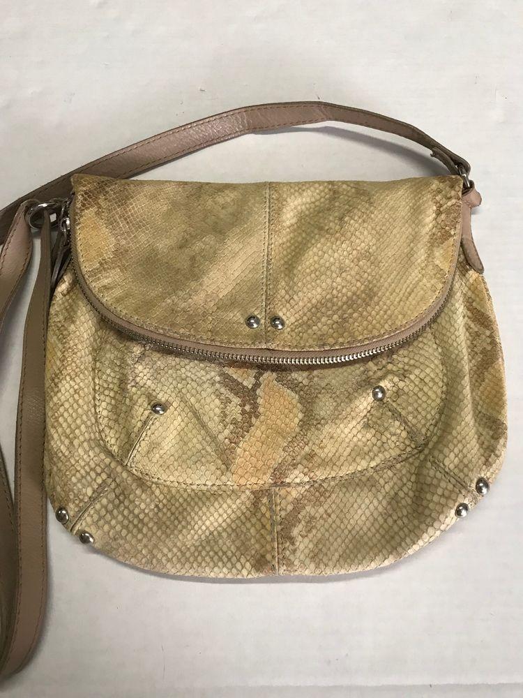 Maurizio Taiuti Leather Python Snake Skin Handbag Made In Italy Mauriziotaiuti Shoulderbag