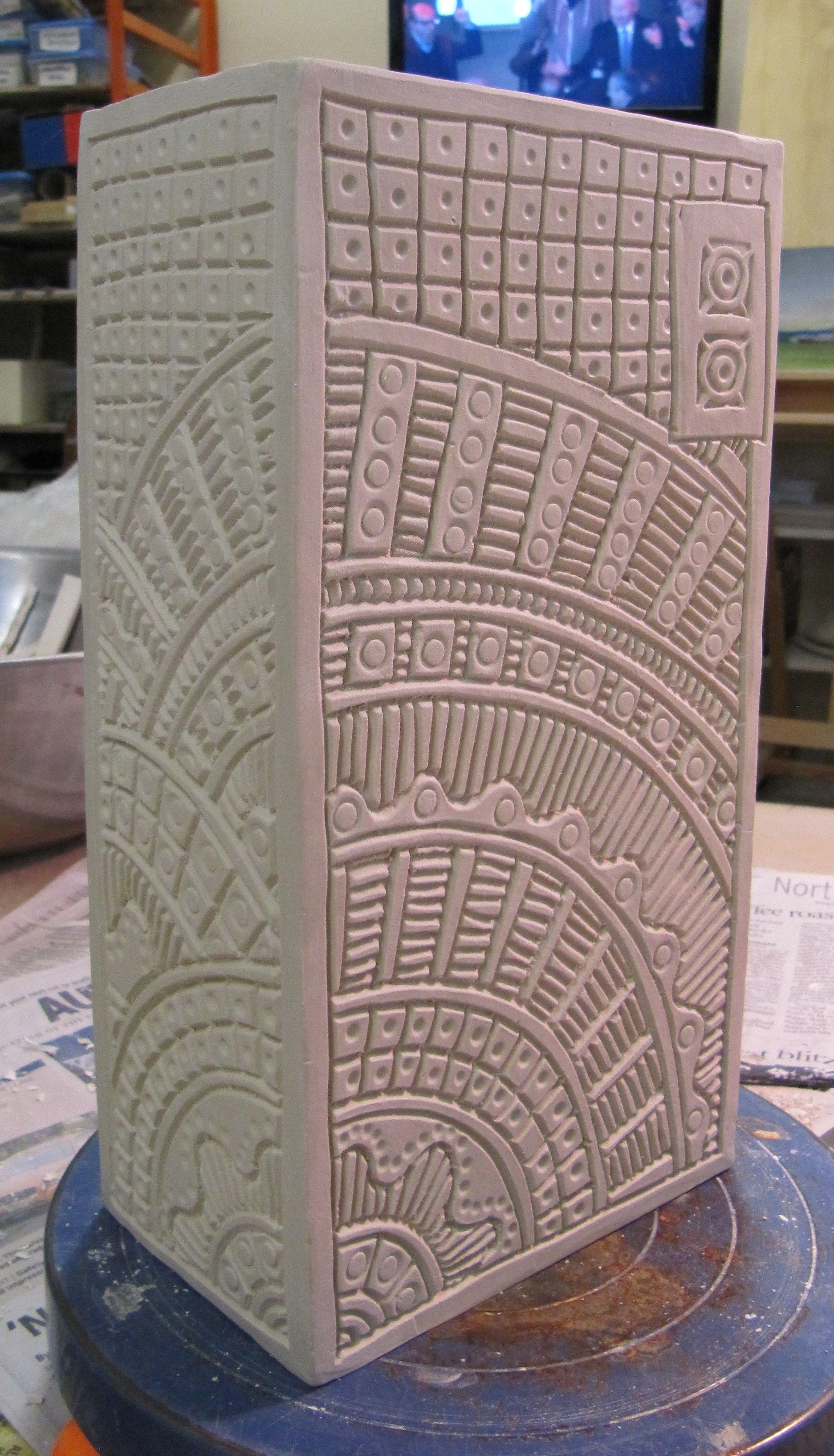 Stiff Slab Handbuilding With Porcelain Pottery Workshop Slab Ceramics Slab Pottery