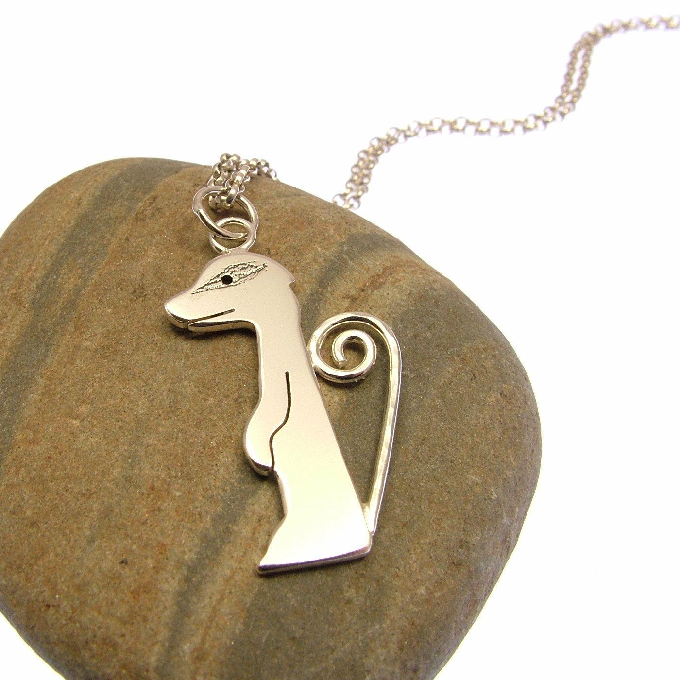 Sterling Silver Meerkat Necklace - Meerkat Jewellery - Meerkat Gifts by JewelleryFurKeeps on Etsy