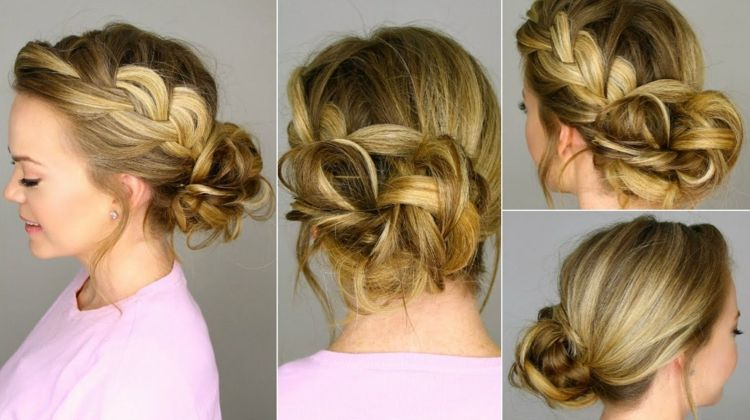 Just Make A Big Bun With Braid Yourself Frisuren Frisur