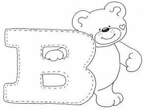 Letra B Dibujos De Letras Del Abecedario Para Colorear