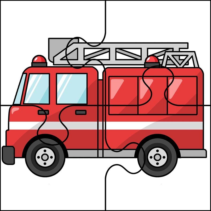 Dzien Strazaka Puzzle Latwe Dzien Strazaka Maj Puzzle Do Wycinania Swieta I Pory Fire Safety Preschool Crafts Fire Safety For Kids Community Helpers Preschool