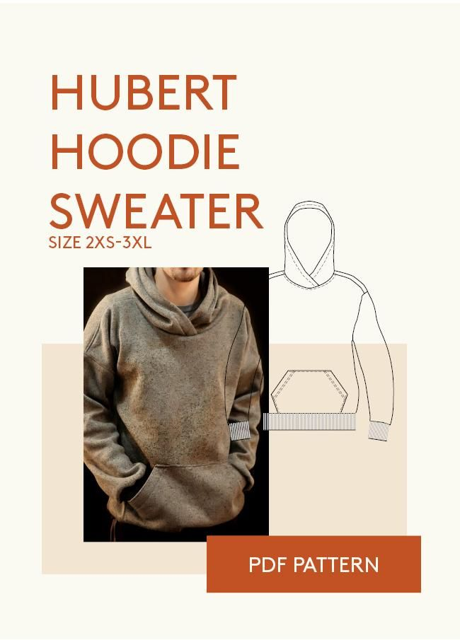 Hoodie Sewing Pattern | Clothing | Pinterest | Sewing patterns ...