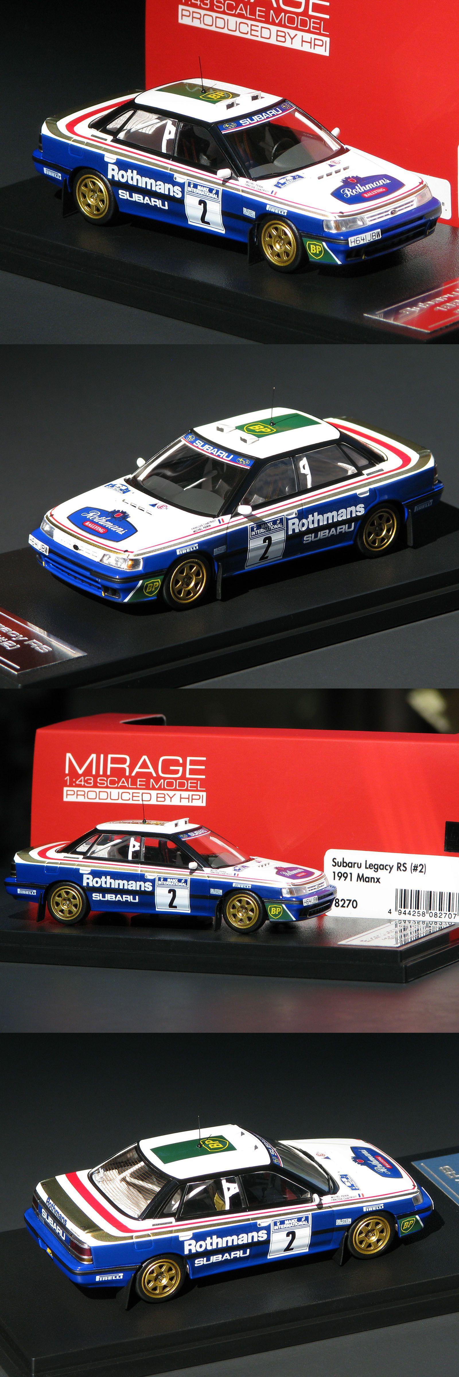 Rally Cars 180271 Rothmans Logos Applied Subaru Legacy Rs 2 1991