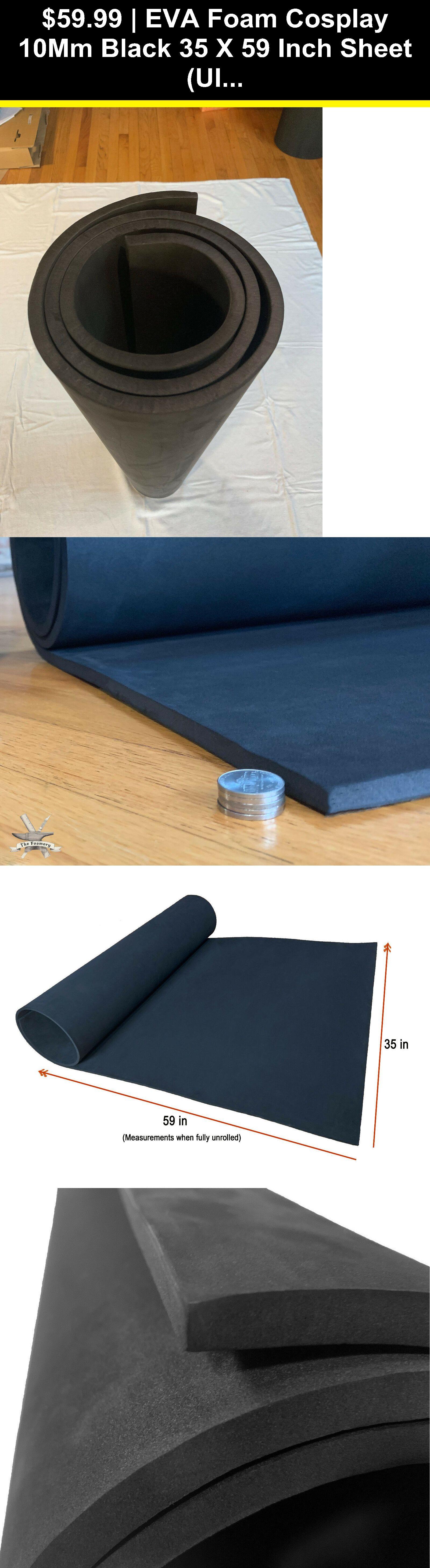 Styrofoam Forms 41200 Eva Foam Cosplay 10mm Black 35 X 59 Inch Sheet Ultra High Density Buy It Now Only