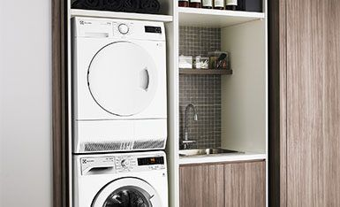 Small laundry Electrolux washer dryer