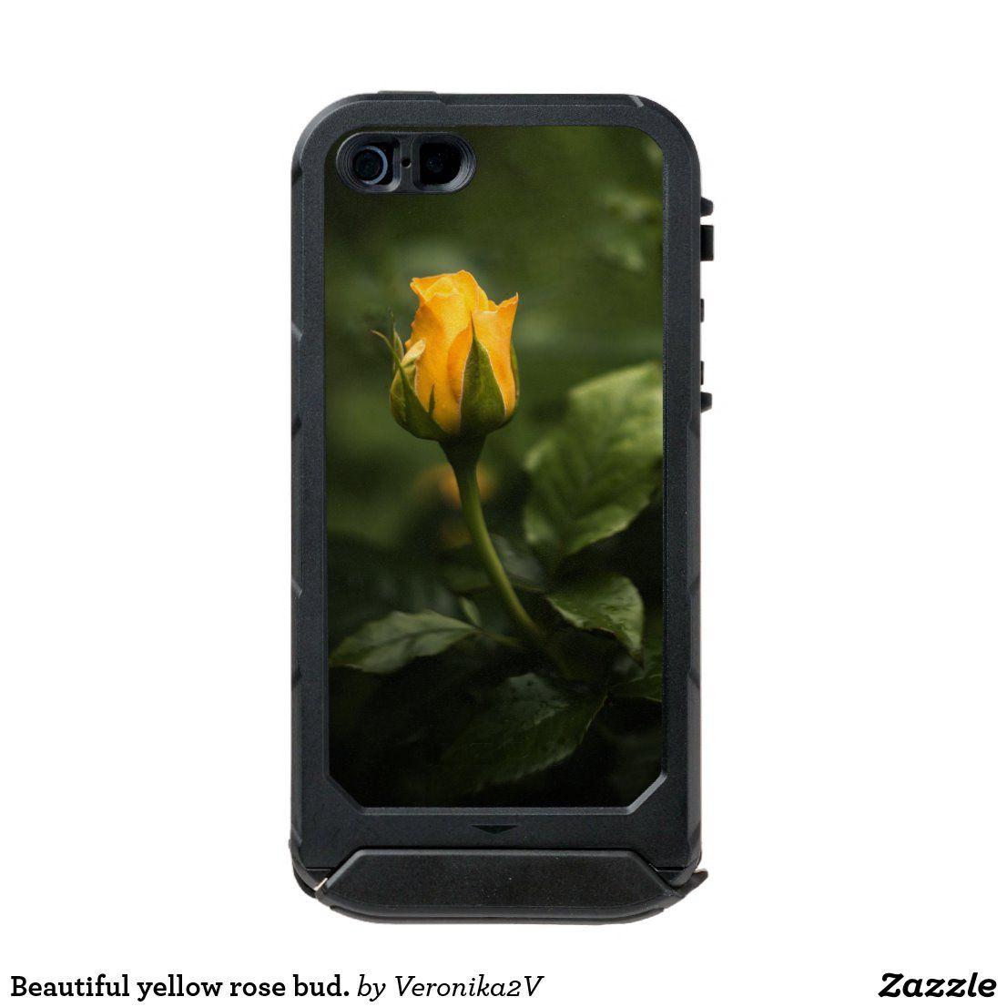 Beautiful yellow rose bud incipio iphone case zazzle