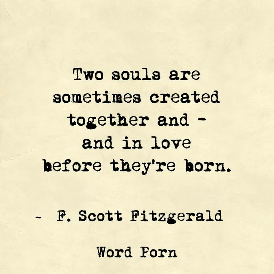 F Scott Fitzgerald Love Quote In Love Before They're Born  Fscott Fitzgerald  Quote  Word