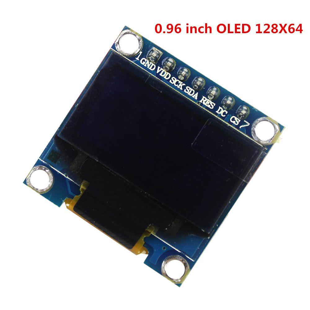 """DISPLAY MODULE BOARD 0.96/"""" 128X64 IIC I2C SPI OLED DIGITAL BLU ARDUINO 4 PIN TEK"""
