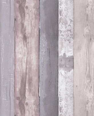 Grey mauve wood vintage look caprina by canus shea - Wood effect wallpaper living room ...