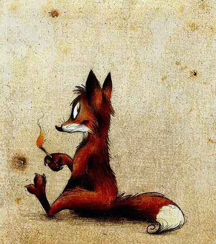 Прикольные картинки лисы рисунки, картинка город