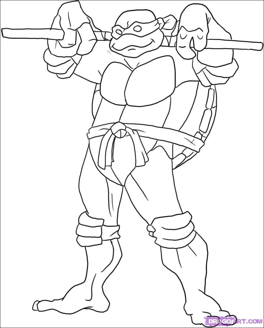 Pin On Turtle Coloring Page