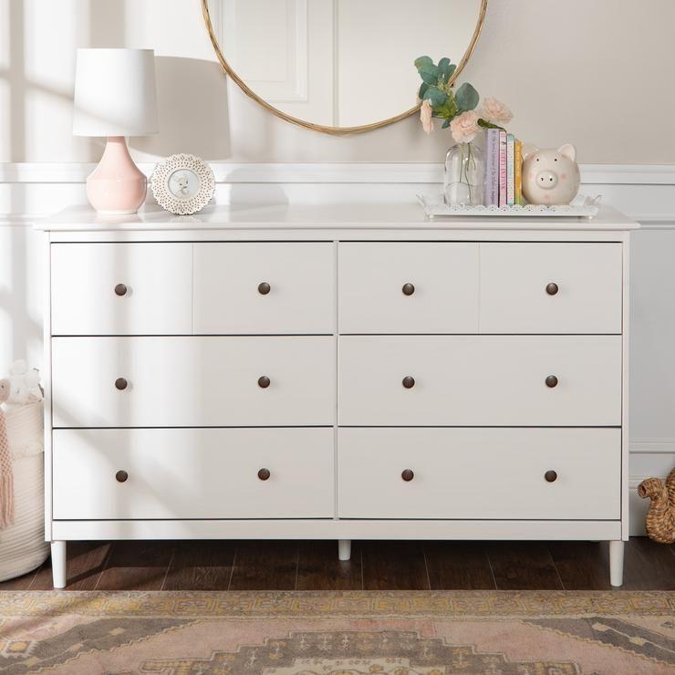 Spencer Solid Wood 6 Drawer Dresser Solid Wood Dresser Wood Dresser Furniture