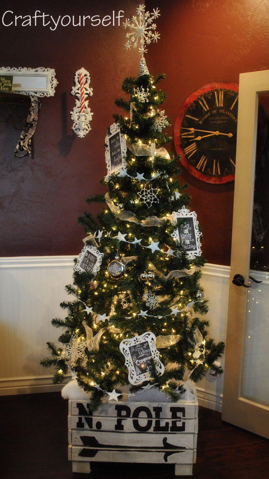 North Pole Christmas Tree Crate And Christmas Tree Make Over Craft Christmas Tree Box Christmas Tree Box Stand Christmas Tree Stand