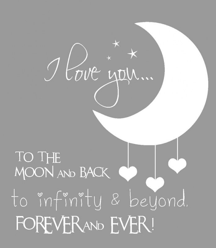 I Miss You To The Moon And Back Quotes: I Love You To The Moon And Back Muursticker