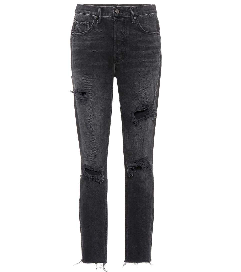 Karolina black high-waisted jeans