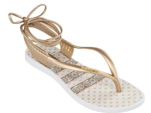 95e575c04be79 Ipanema Premium Pharaoh Womens Flip Flops   sandfarbeale - Gold  Amazon.de   Schuhe   Handtaschen
