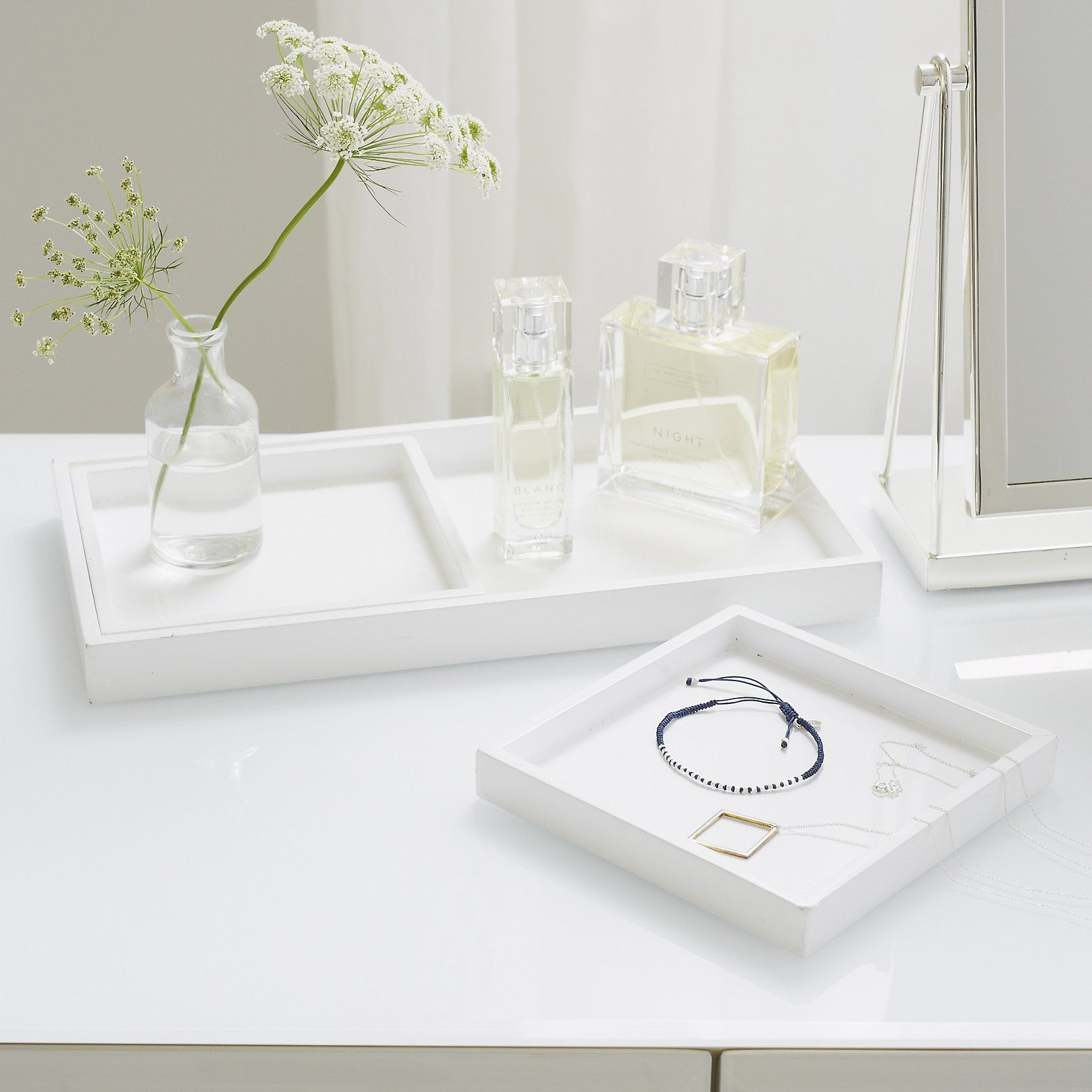 decorative product garden laurel metal today mirrored and kate home free white tray gold shipping overstock decor glass