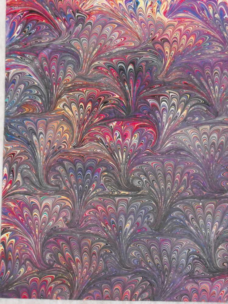 Papier Collant Marbre Hand Marbled Fabric | Marbling Hand Marbled Fabric In 2018