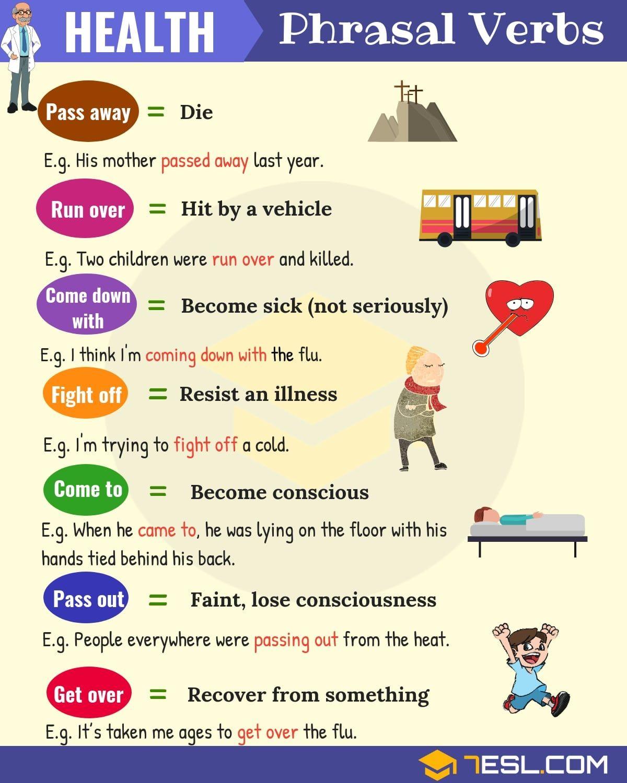 Health Phrasal Verbs English Verbs Learn English English Language Learning [ 1500 x 1200 Pixel ]