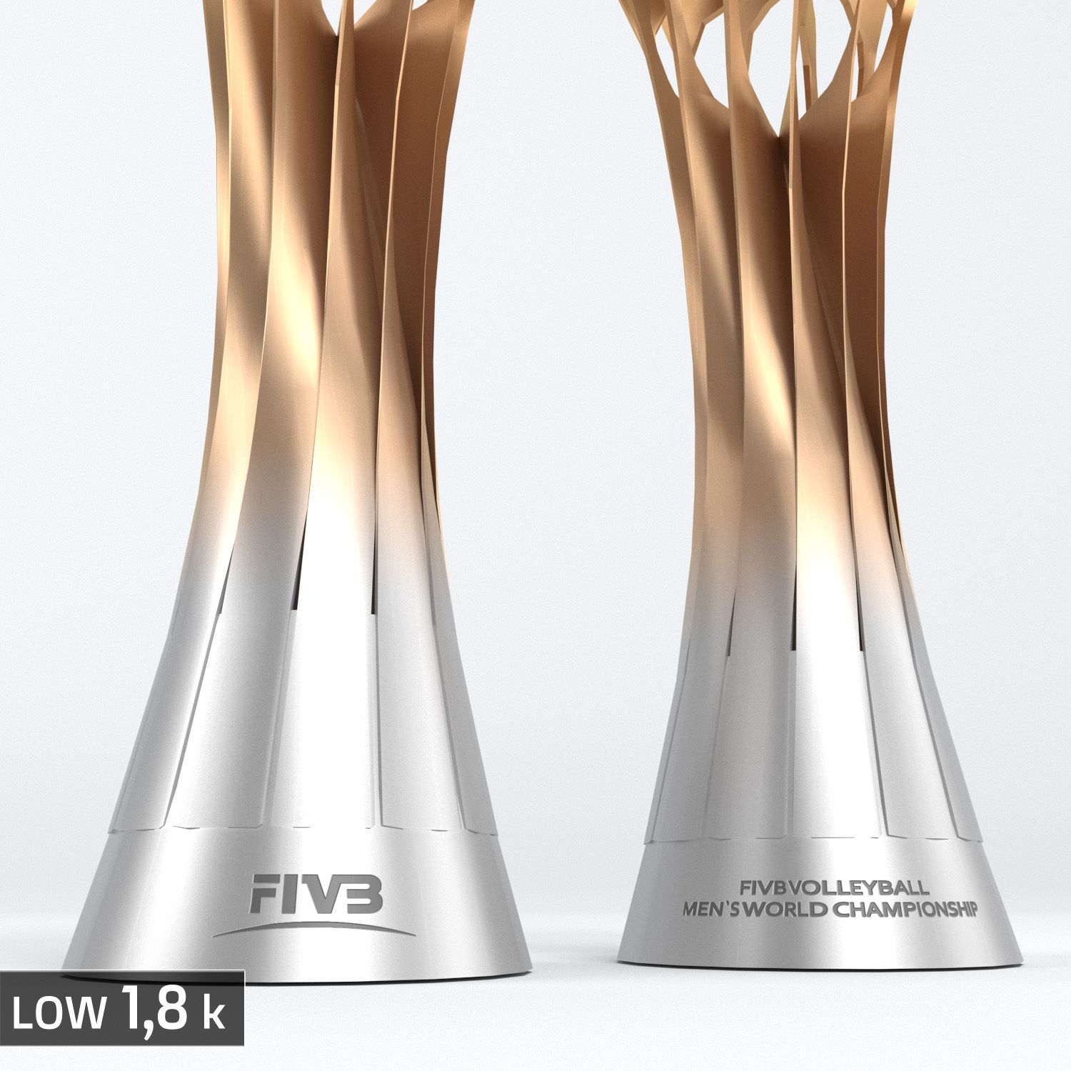Volleyball World Championship Cup Trophy Low Poly Championship World Volleyball Poly World Championship Volleyball Trophy